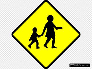 Children Crossing Caution