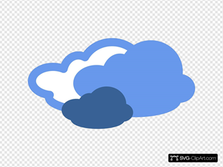 Heavy Clouds Weather Symbol SVG icons