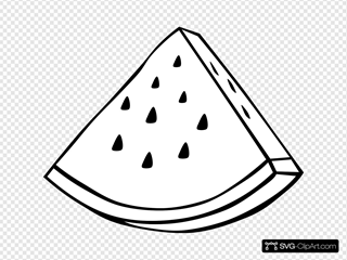 Watermelon Melon Outline