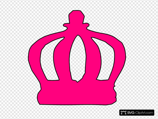 Pink Tiara Cartoon