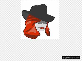 Female Detective SVG Clipart
