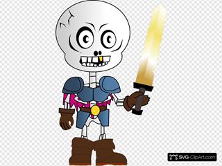 Skeleton Holding Sword