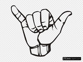 Sign Language Y Hang Loose