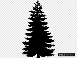 Bare Christmas Tree Svg.Tree Silhouettes Clip Art Icon And Svg Svg Clipart