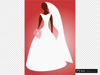 Bride In Wedding Dress Clip art, Icon and SVG , SVG Clipart