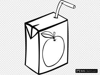 Apple Juice Box (b And W)