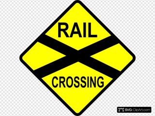 Caution Railroad Crossing