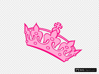 Pink Tilted Tiara