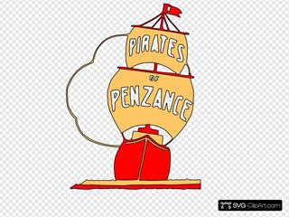Pirates Ship Sailing Boat