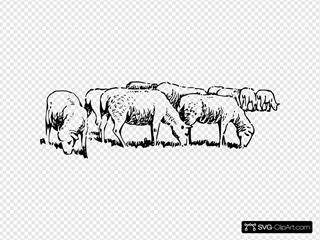 Grazing Sheep Clip art, Icon and SVG - SVG Clipart