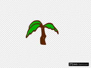 Rpg Map Symbols Palm Tree SVG Clipart