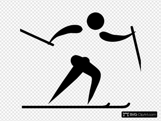 Olympic Sports Cross Country Skiing Pictogram