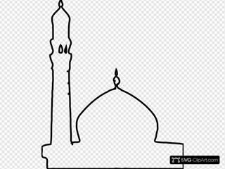 Masjid Svg Vector Masjid Clip Art Svg Clipart