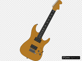 Red Electric Guitar Clipart