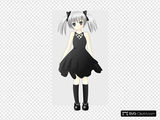 Anime Girl With Silver Hair