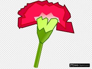 Red Carnation Cartoon