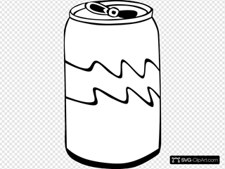 Pop Can (b And W)