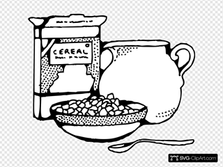 Cereal Box And Milk