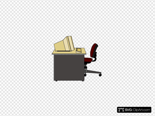 Computer Desk SVG Clipart