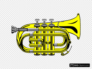 Pocket Trumpet B Flat (colour)