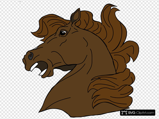 Angry Horse SVG Clipart