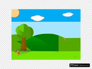 Cartoon Landscape Clipart