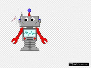 Cartoon Robot Clipart