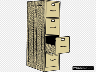 File Cabinet With Drawes