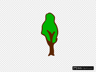 Rpg Map Symbols Tree 3 SVG Clipart