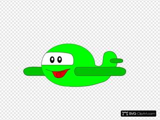 Cartoon Happy Airplane