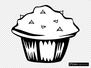 Double Chocolate Muffin (b And W)