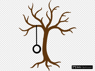Bare Tree With Tire Swing