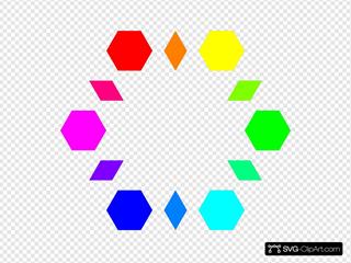 6 Hexagons 6 Diamonds