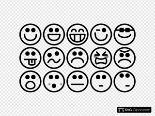 Outline Smiley Icons