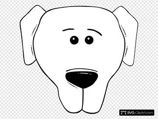 Dog Face Cartoon World Label