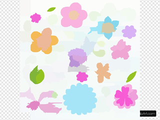 Flowers Colorful Sketchy Doodles Hand Drawn Back To School Notebook Vector Illustration Design Eleme