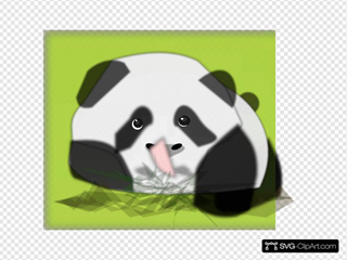 Panda With Plants