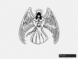 Angel Praying Tattoo