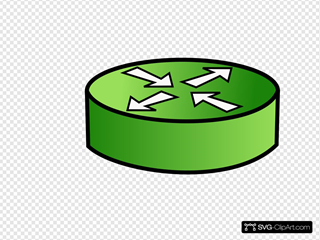 Green Router Symbol