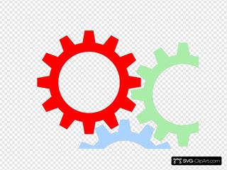 Tri-color Gears