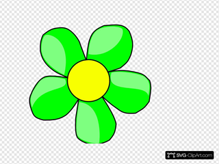 Green Flower SVG Cliparts