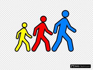 Walking Man Colors 2
