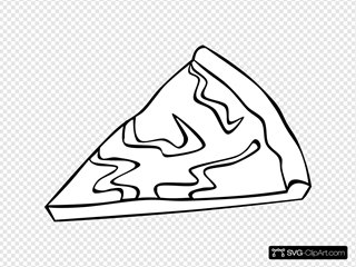 Cheese Pizza Slice (b And W)