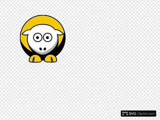 Sheep 3 Toned Pittsburgh Steelers Team Colors Clipart