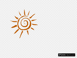 Whimsical Sun Clip art, Icon and SVG - SVG Clipart