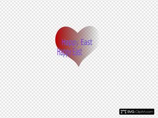 Happy Easter Heart