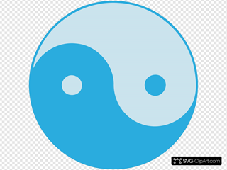 Blue Yin Yang SVG icons
