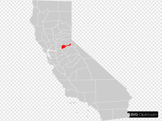 California County Map Amador County Highlighted