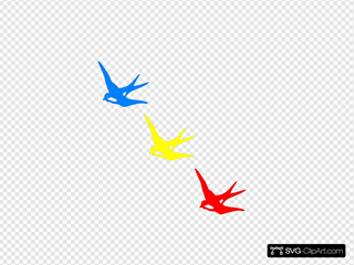 Colored Swallows