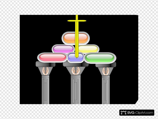 Pillars Of The Church Updated SVG Clipart
